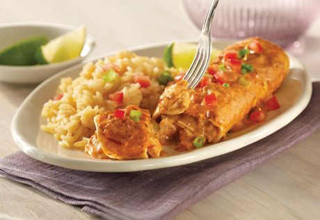 Campbell's Easy Chicken & Cheese Enchiladas Recipe  If you're cooking dinner, Campbell's gives you a fresh way to delight your family. From fresh twists on classic faves to totally new recipes, Campbell's will give you inspiration just when you need it. #TheWisestKid #bh #sponsored