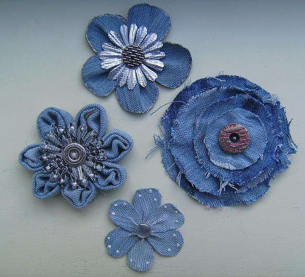 @:  jeans flowers