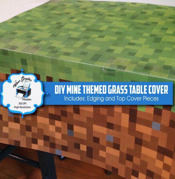 DIY Mina temáticos grama Table Cover - Instant Download - Impressão - Inclui Top e afiação Pieces Artwork - 300 DPI JPGs