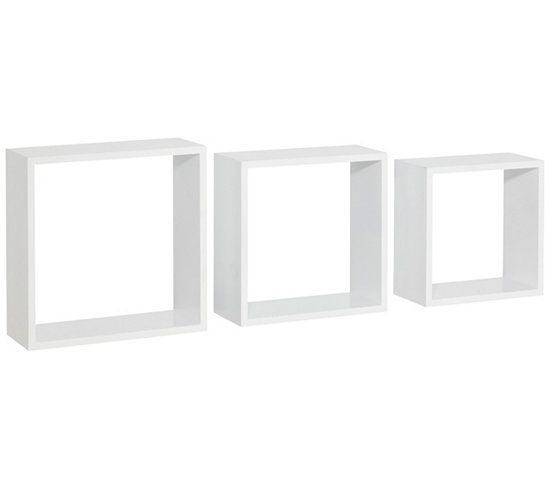 Etagères - Set de 3 cubes DURALINE Blanc laqué