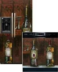 Old World Wine Side by Side Refrigerator & Dishwasher Cover Combo  http://www.applianceart.com/Old_World_Wine_Refrigerator_Dishwasher_Cover_Combo_p/11470-471.htm