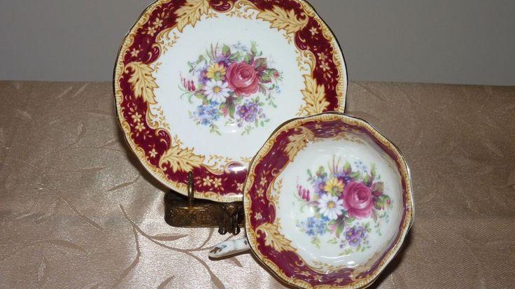 Gorgeous Paragon Cabbage Rose Bouquet Teacup and Saucer #Paragon