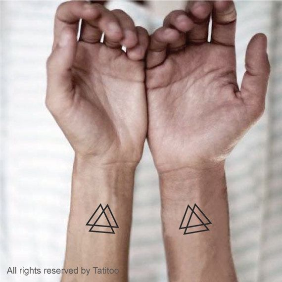 Triangle Temporary Tattoo,tattoos, temporary tattoos, Z40