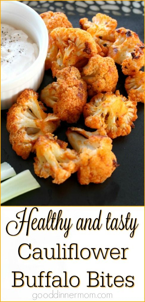 Loaded with flavor but without the fat and calories of chicken, these Cauliflower Buffalo Bites are a delicious, healthy option. width=