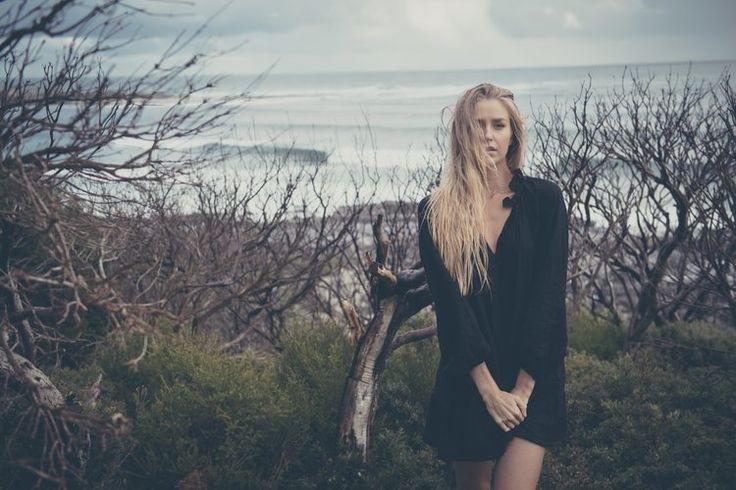 Catie Wears   Stevie May Black Heart Dress