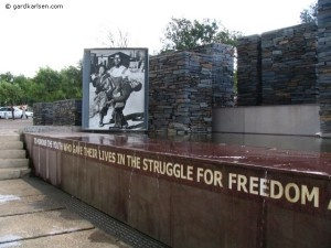Erected in memory of the 1976 student protest, when police opened fire on hundreds of Sowetan schoolchildren who were peacefully demonstrating