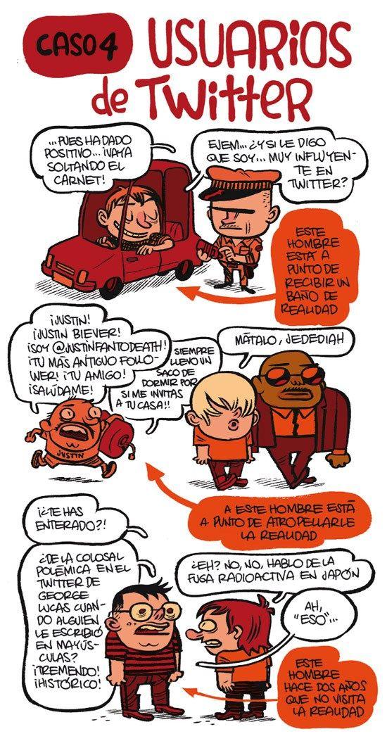Usuarios de Twitter #infografia #infographic #socialmedia #humor