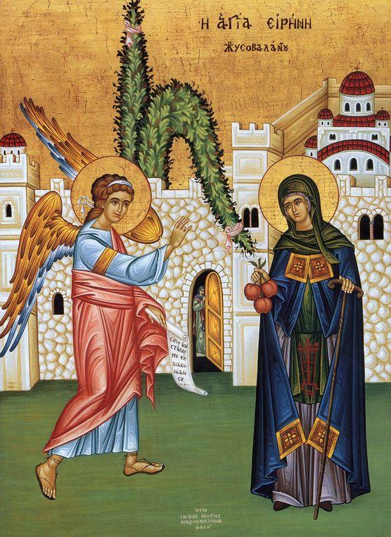 Saint Irene Chrysovalantou  Icon