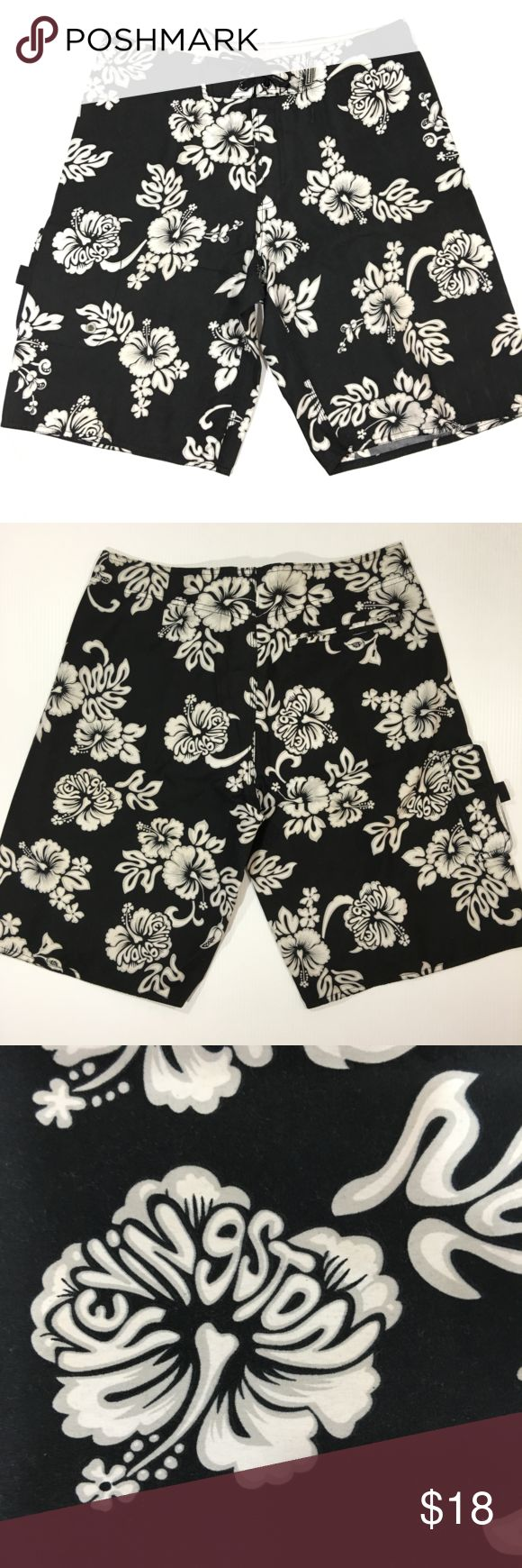 """Board SHORT Surf Swimwear Kevingston Size Medium Up for sale a board short brand Kevingston, hawaiian surf style, in great used condition.  Size Medium (waist 32"""").  Two Pockets. KEVINGSTON Swim Board Shorts"""