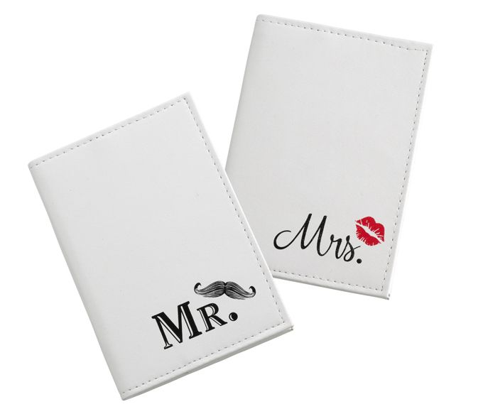 Mr and Mrs Passport Covers | Bride and Groom Gifts