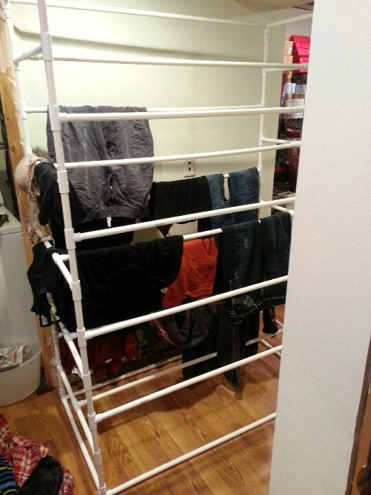 Large Pvc Pipe Laundry Drying Rack My Boyfriend Made Had