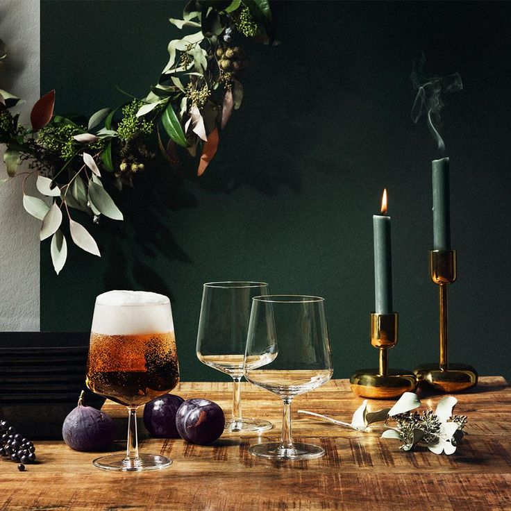 A modern look for a classic beverage. New beer glasses for your holiday tabletop!