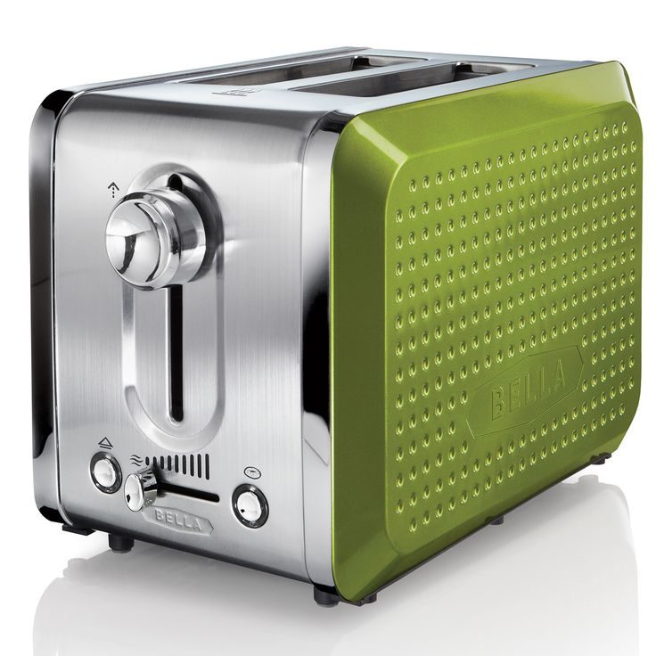 With its unique dot texture, gorgeous color and sleek design the BELLA Dots toaster will bring life to your kitchen and make you smile. This contemporary toaster has many features that will take cooking your bread into the future.