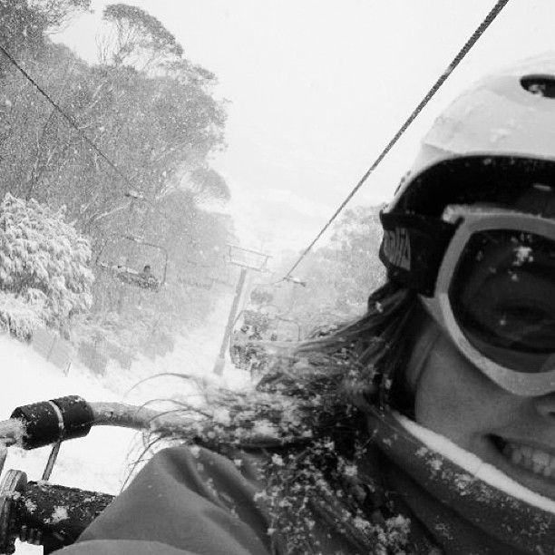 Photo by alicia_wilde_  Take me back! ❄⛄ #snowboarding #thredbo #skitrip #2010 #favourite #lift #selfie #snow #storm
