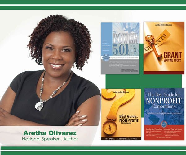 Become a Certified Nonprofitt 501(c)(3) Consultant with Aretha Olivarez! Jun 11-12, 2015 Atlanta Airport Marriott. To Register or For Info: 407.575.0685 www.MultiplyingTalents.com