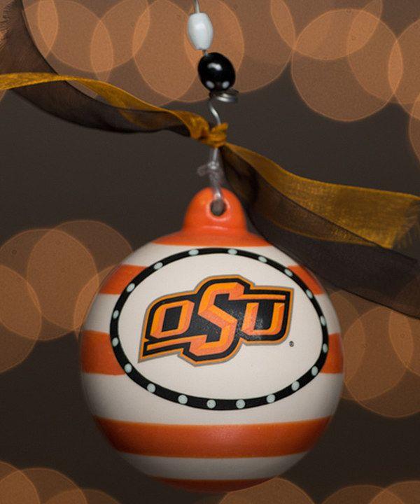 Oklahoma State Cowboys Stripe Ornament