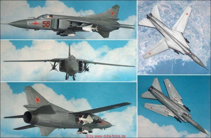 Mikojan-Gurewitsch MiG-27 (Flogger) Kampfflugzeug (Hasegawa 712) 1:72
