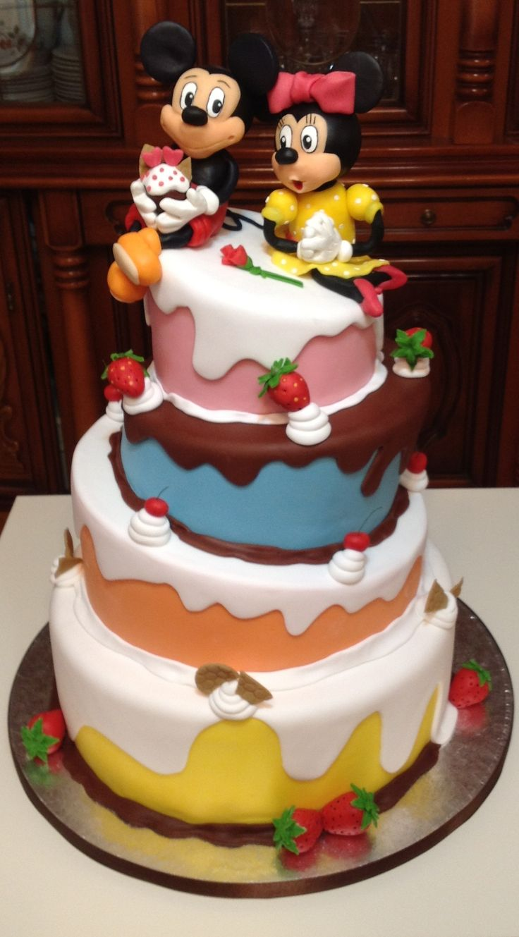 Micky mouse and Minnie Cake