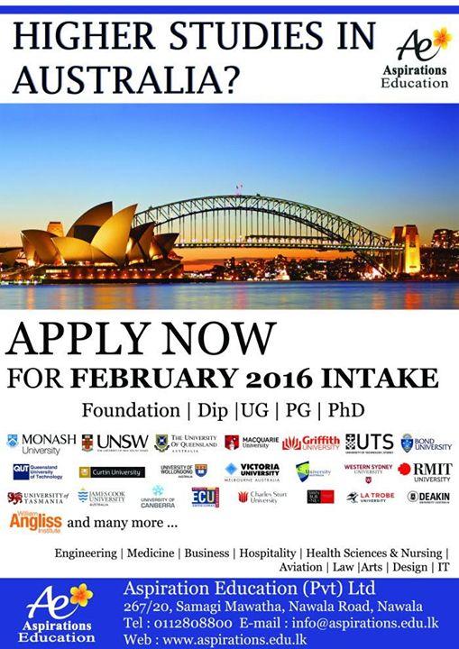 Higher Studies in Australia?  Higher Studies in Australia?
