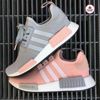 adidas nmd r2 womens grey hot pink adidas shoes with lace