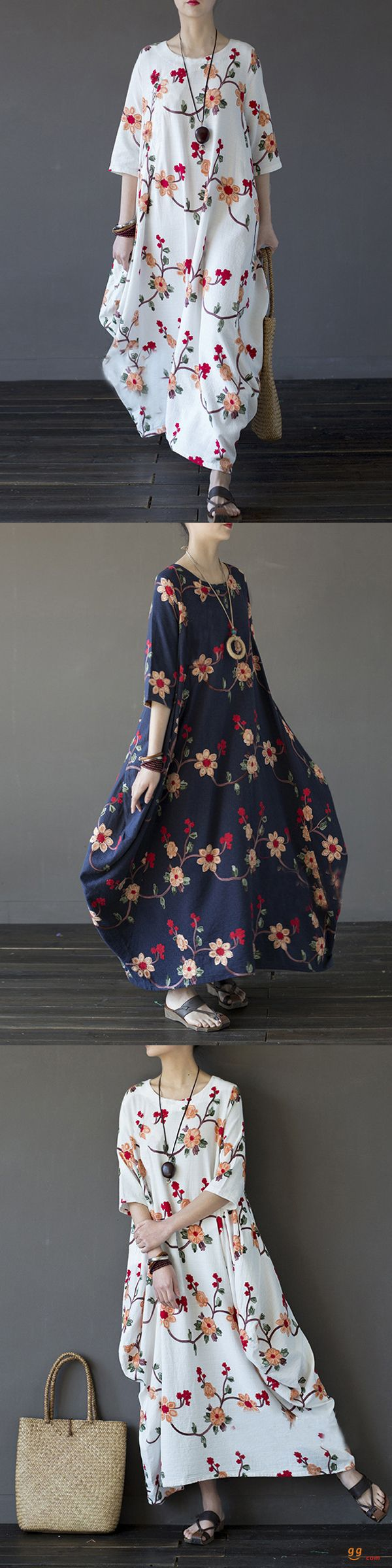US$35.89+Free shipping. Size: S~5XL. Color: Navy, White. Home or out, love this vintage and casual dress. Women Dresses, Long Dresses, Dresses Casual, Dresses for Teens, Summer Dresses, Summer Outfits, Retro Fashion.