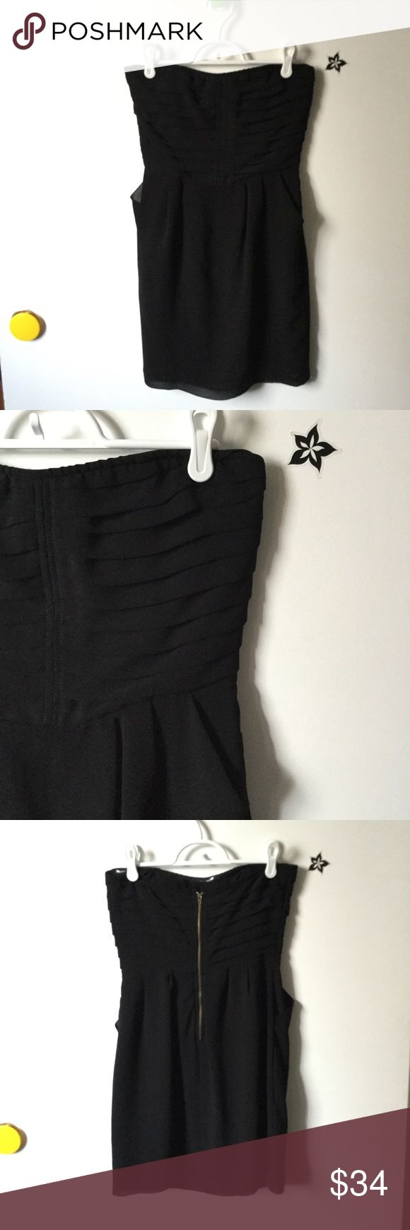 Strapless black dress w/pockets New without tags Sparkle & Fade Dresses