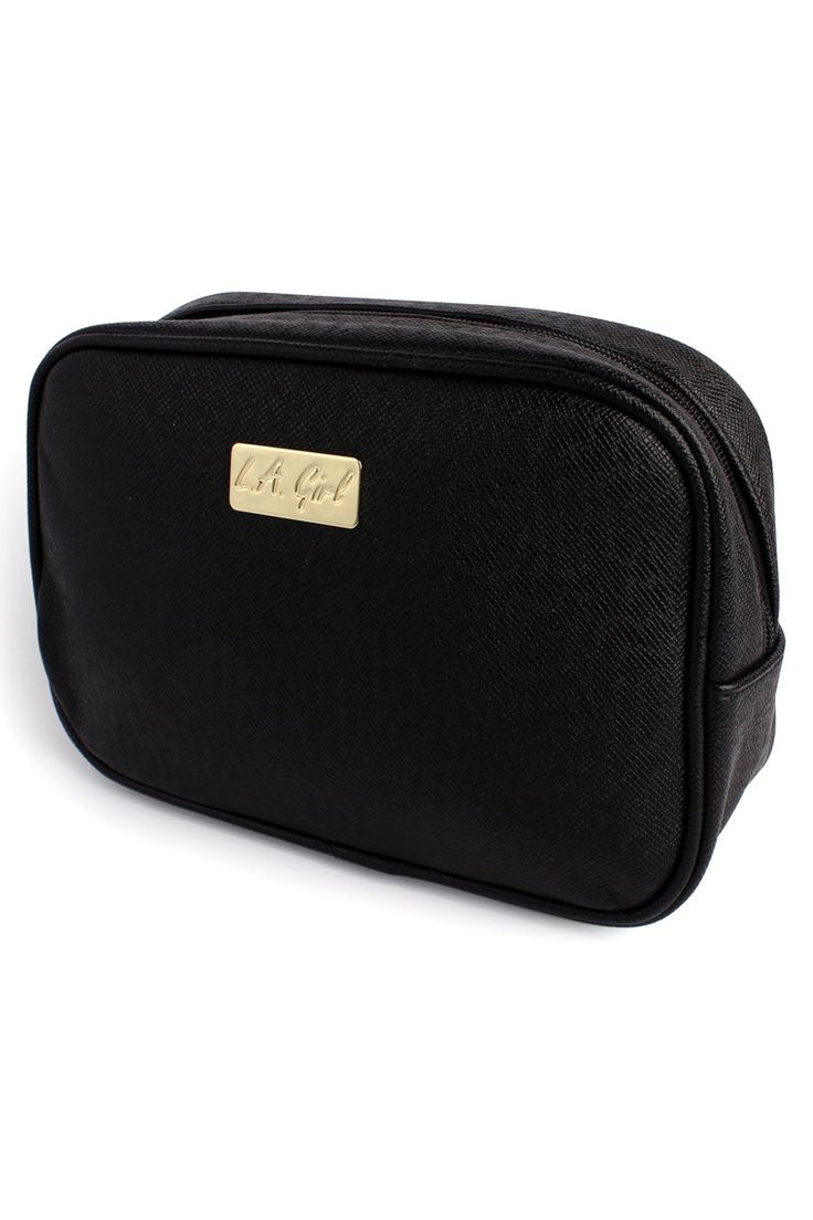The L.A. Girl cosmetic bag is the hottest new addition to any beauty collection. It's unique shape and features allow for optimal storage while maintaining a sleek shape and design. Two shapes to choo