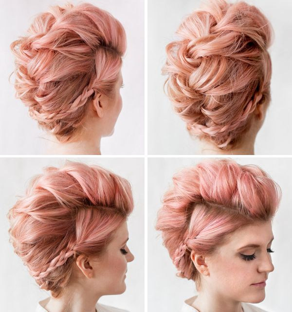 Groovy 1000 Ideas About Braided Mohawk Hairstyles On Pinterest French Short Hairstyles Gunalazisus