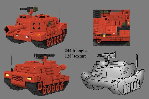 LOWPOLY (sub 1000~ triangle models) - Page 19 - Polycount Forum