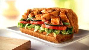 Subway Chicken Fajita Burger