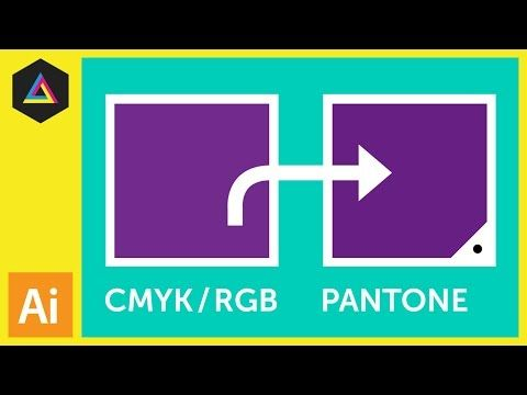 ▶ CMYK / RGB to Pantone | Converting colours in Adobe Illustrator - YouTube