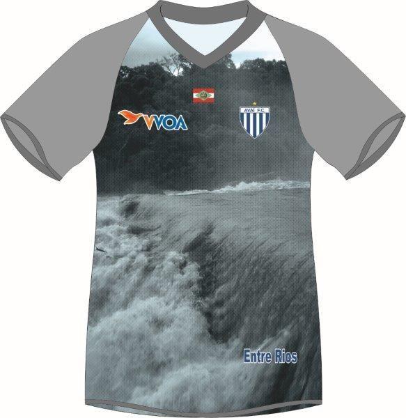 Camisa de goleiro do Avai em homenagem a Entre Rios