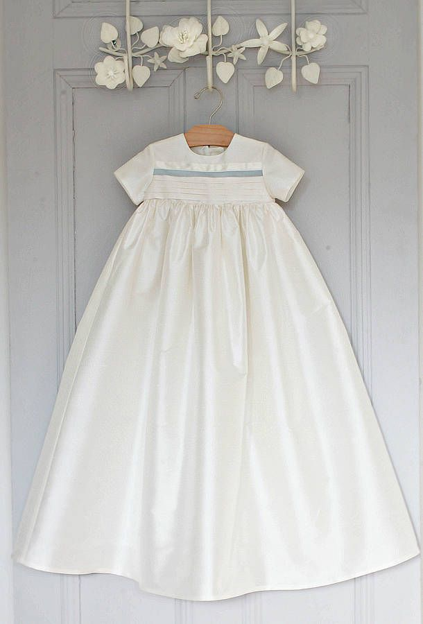 boys silk christening gown 'jack' by adore baby | notonthehighstreet.com