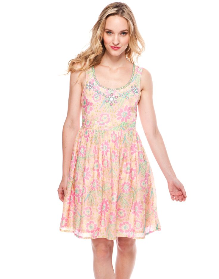 Party Dress - Dragonfly print, Pink