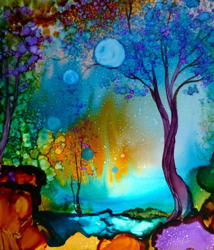 I would luv this as wallpaper m alcohol inks on yupo for Painting while drinking wine