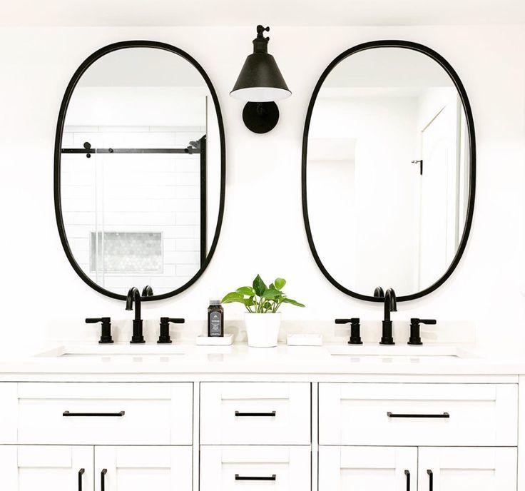 Hub Oval Mirror In 2020 Round Mirror Bathroom Bathroom Mirror