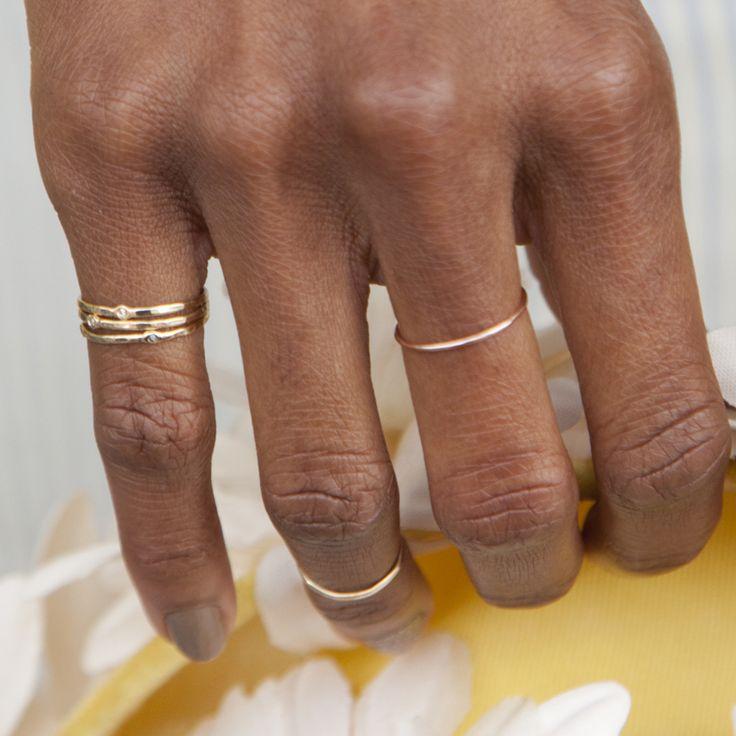Scosha - Origin Memory Ring in Rose Gold/Diamond, $160.00 (http://shop.scosha.com/origin-memory-ring-in-rose-gold-diamond/)