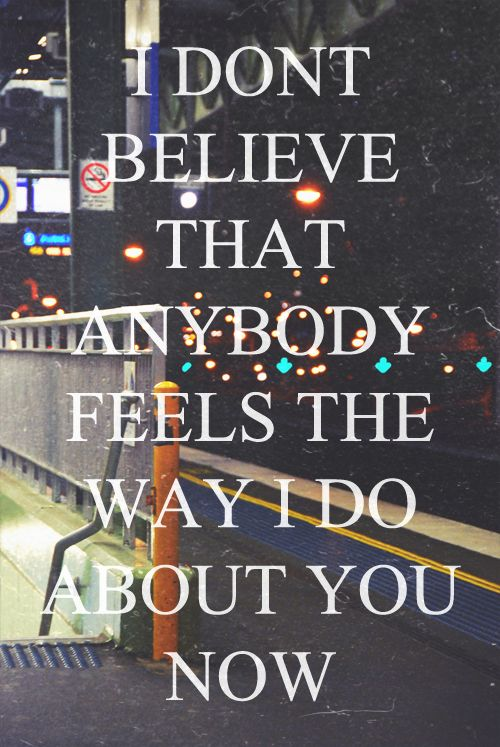 Wonderwall -Oasis. I absolutely love this song and this is my favorite lyric :)