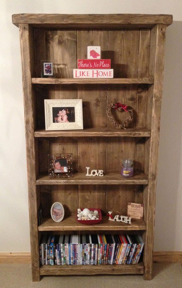 BESPOKE HANDMADE RUSTIC FARMHOUSE STYLE WOODEN BOOKCASE