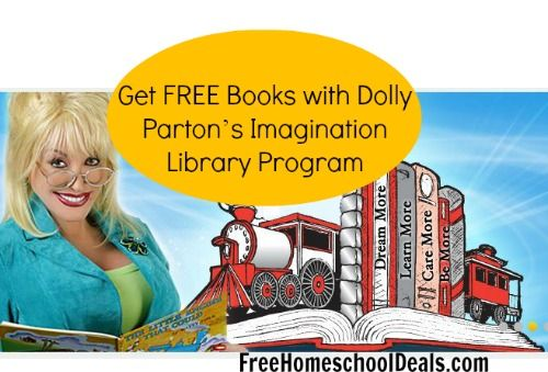 Get FREE Books with Dolly Parton's Imagination Library Program | Free Homeschool Deals
