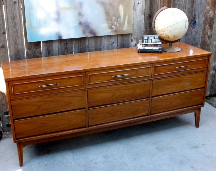 Vintage Mid Century Modern 9 Drawer Credenza Dresser By Dixie Furniture.  $350.00, Via Etsy