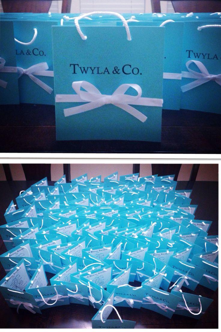Tiffany  Co bridal shower invitations