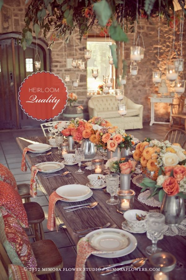 Delightful dinner table by Gingervint Find this