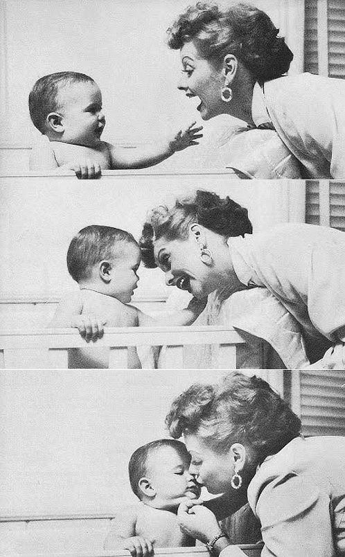 Lucille Ball with son Desi Jr.