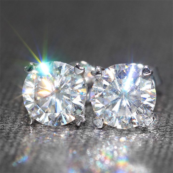 Find More Stud Earrings Information about Genuine18K 750 White Gold Screw Back 2 Carat ct F Color Test  Positive Lab Grown Moissanite Diamond Earrings For Women,High Quality gold clover earrings,China earring parts Suppliers, Cheap earring shop from  CPP  sLowgUs'hop on Aliexpress.com