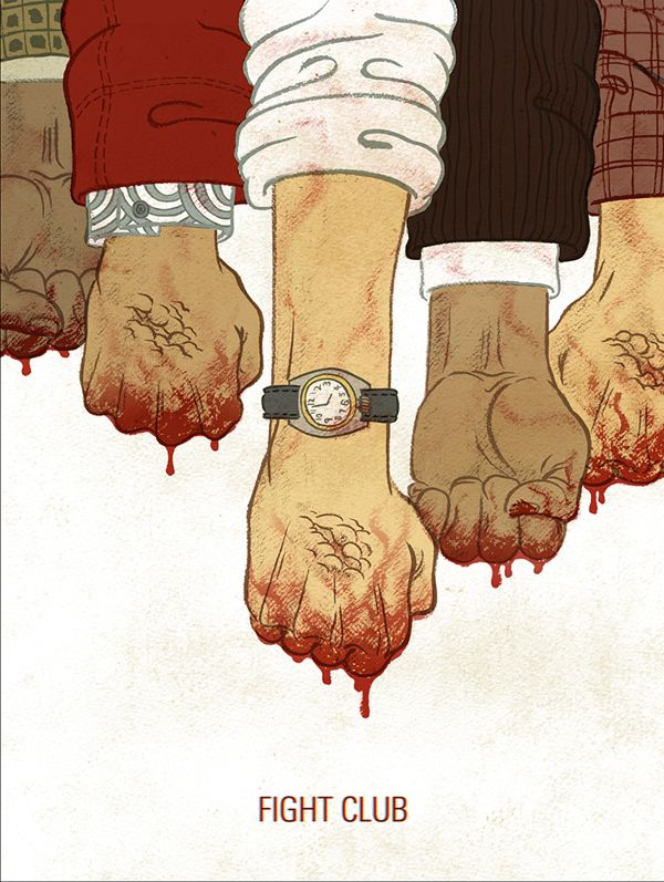 Fight Club by Meen Choi, via Behance