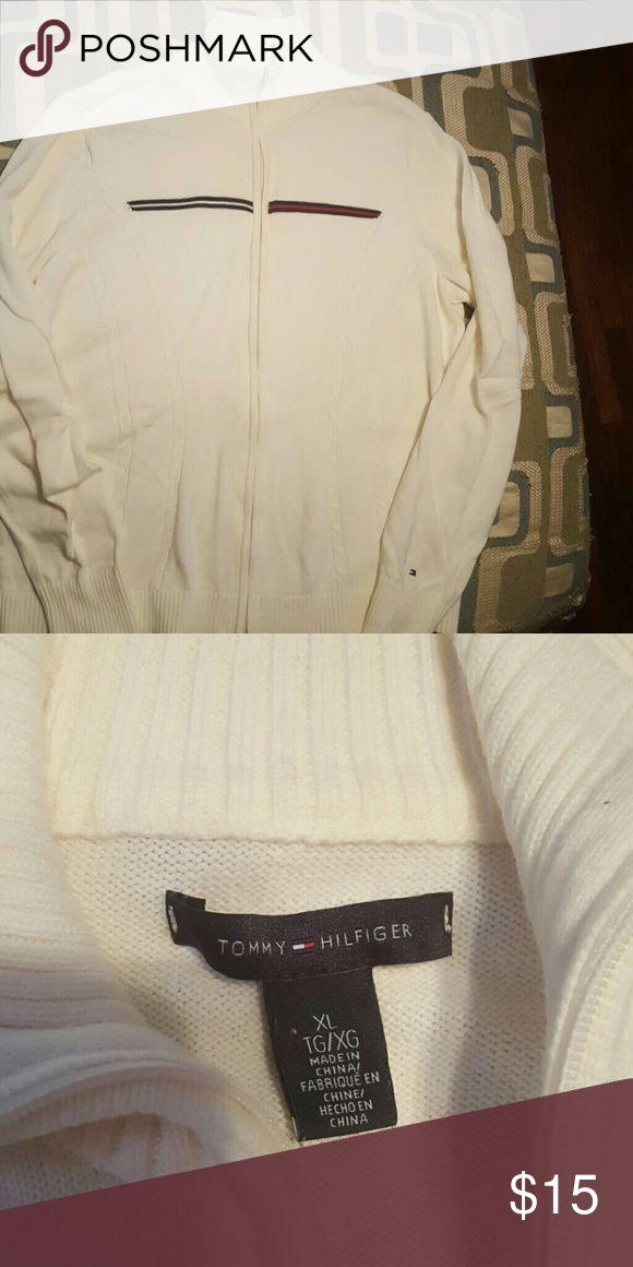 Cream zip up sweater Tommy Hilfiger cream zip up sweater Tommy Hilfiger Sweaters Cowl & Turtlenecks