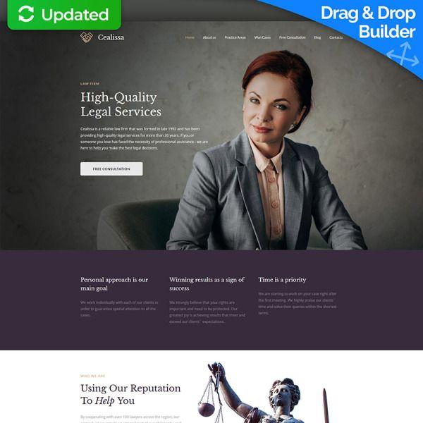 Cealissa Lawyer Attorney Premium Moto Cms 3 Template Law Firm Website Design Templates Web Design Software