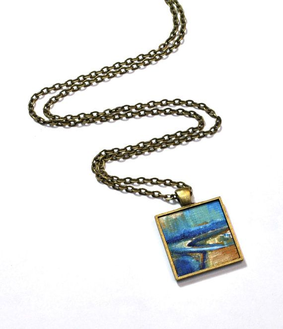 479 best art jewelry wearable art images on pinterest chains art pendant necklace hand painted abstract art original painting not a print wearable art handpainted abstract pendant aloadofball Gallery
