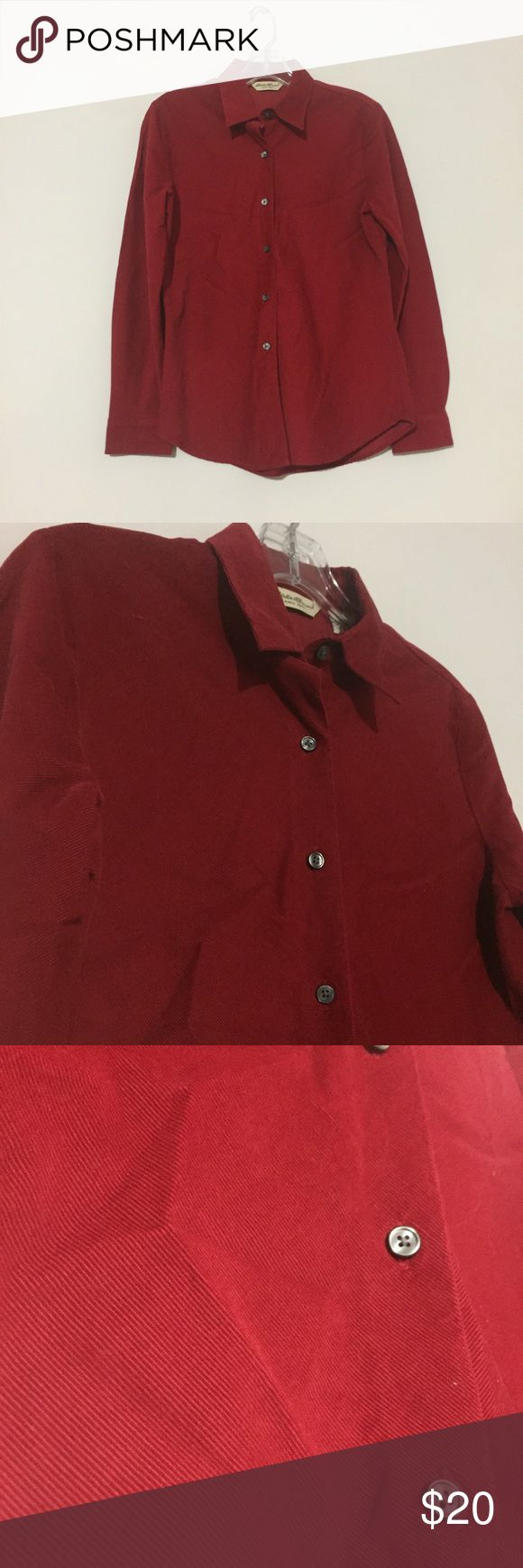 Women's Eddie Bauer Wonderful condition. Corduroy material Button Down women's top with silver buttons. Would be beautiful for the holidays. Eddie Bauer size S. Eddie Bauer Tops Button Down Shirts